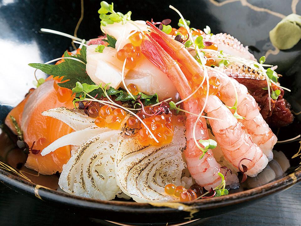 敦賀鯛の炙り入り若狭贅沢丼
