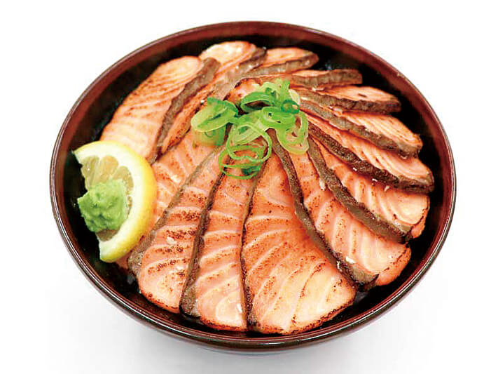 豪快あぶりサーモン丼