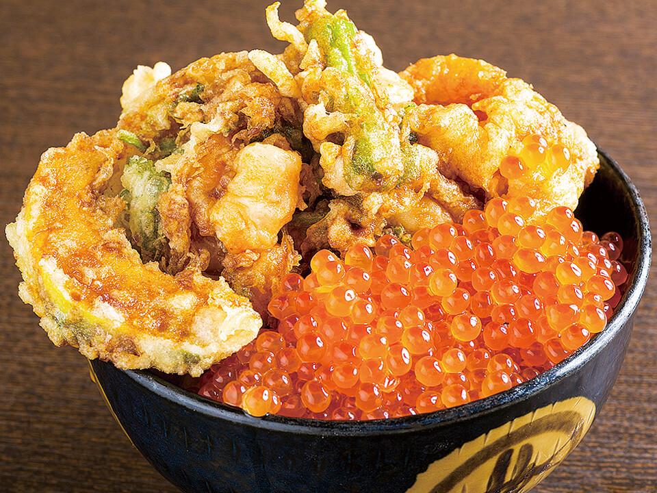 彩りかき揚丼