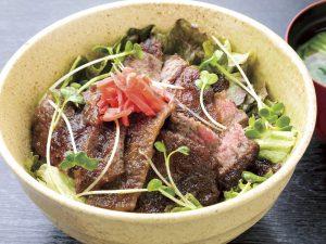 友食亭 あいびす「飛騨牛ステーキ丼」