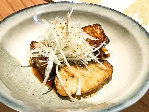 つるが真鯛と自家製厚揚げのステーキ